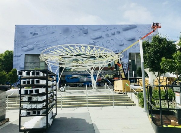 Apple starts to decorate McEnery Convention Center as WWDC18 comes close