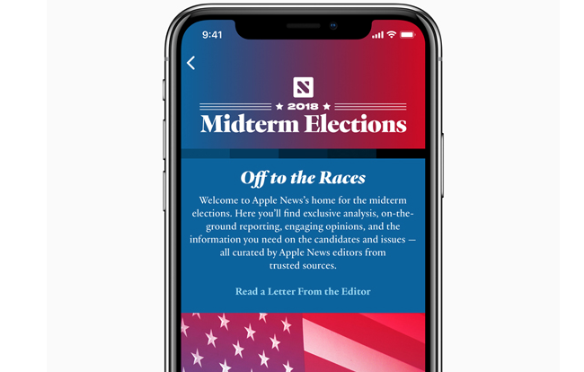 Apple launches 2018 Midterm Elections Apple News section