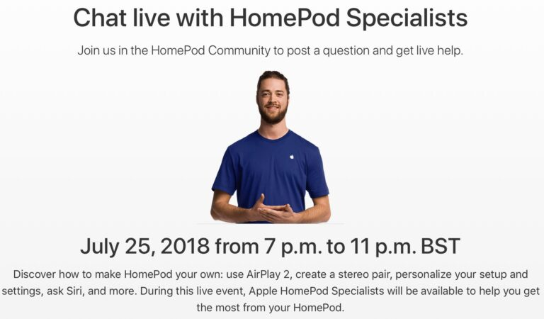 Apple Specialist Live HomePod Q&A Event