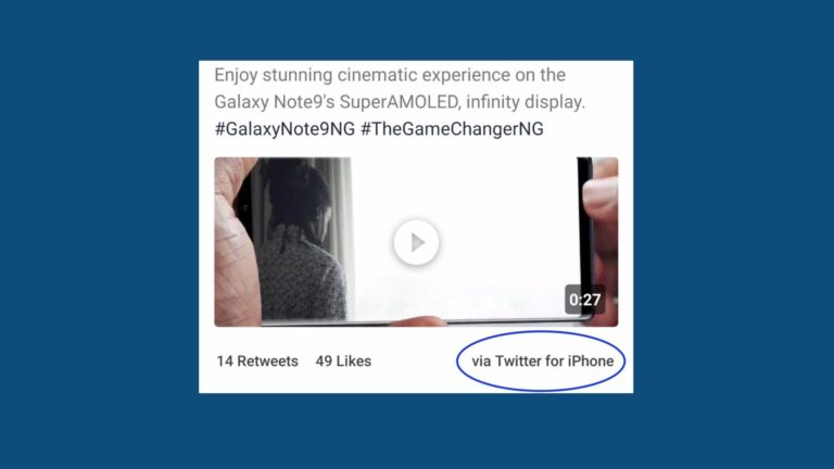 Samsung Tweets about Samsung Galaxy Note 9 on Twitter… from an iPhone!