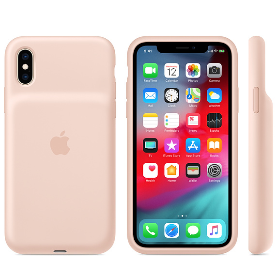 iPhone XS Smart Battery Case now available in Pink Sand
