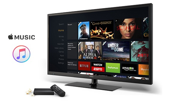 Amazon Fire TV Devices Now Work with Apple Music