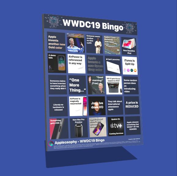 The WWDC19 Bingo Kit: Have even more fun by playing WWDC19 Bingo while watching the WWDC19 Keynote