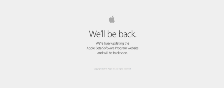 Apple Beta website goes down just before the start of WWDC