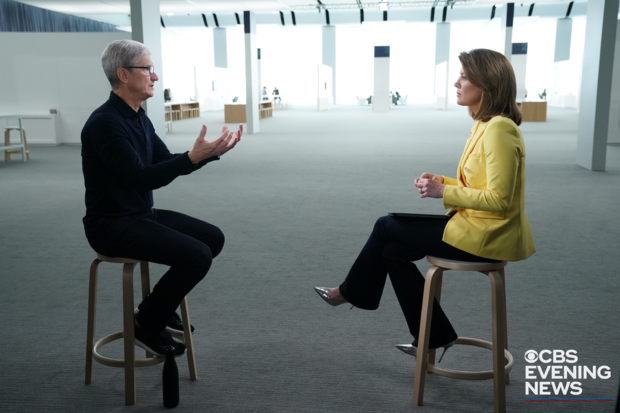 Tim Cook to Give Exclusive Interview on CBS Evening News on Tuesday About Privacy