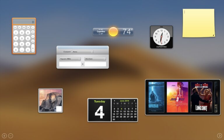 Did Apple remove dashboard in MacOS Catalina?