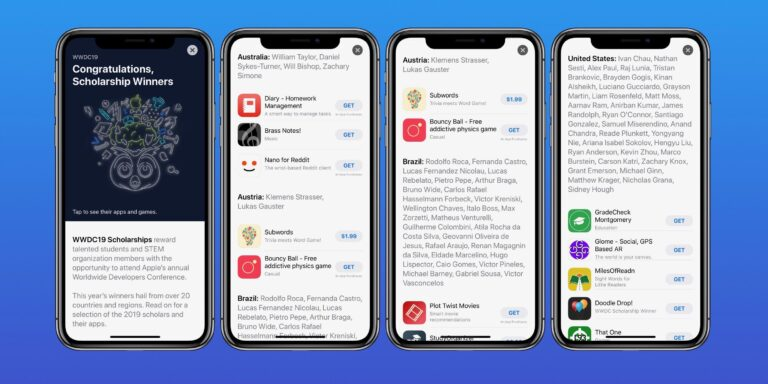 WWDC scholarship winners have their apps and games featured in App Store