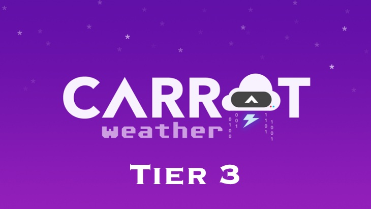 Review: CARROT Weather Tier 3