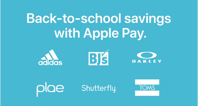 Apple Reminds Users of Current Back to School Apple Pay Promotion and Sales