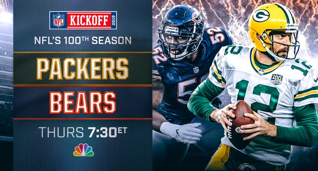 How to Stream the 2019 NFL Kickoff Game (Packers vs Bears)