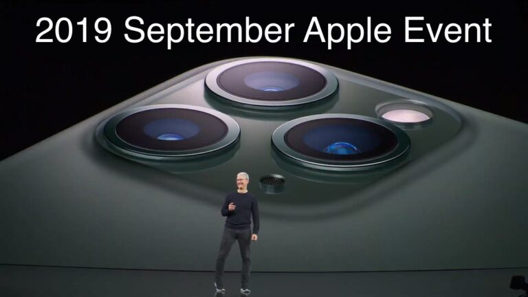 Overview of the September 2019 Apple Event