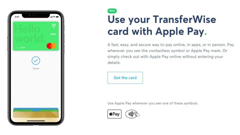 TransferWise Card Gains Support for Apple Pay
