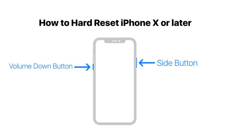 How to Hard Reset iPhone X or later