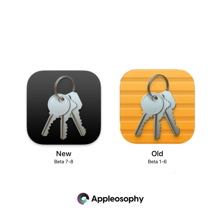New Keychain Icon in macOS Big Sur Beta