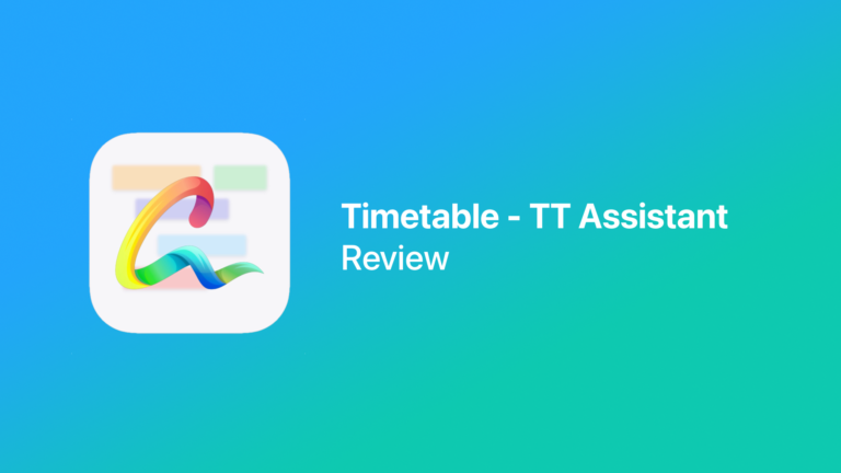 Review: Timetable – TT Assistant