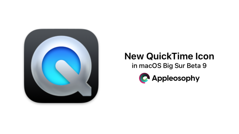 New QuickTime Icon discovered in macOS Big Sur Beta 9