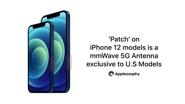 Patch on iPhone 12 Edge is a 5G Antenna Exclusive to U.S iPhone 12 Models