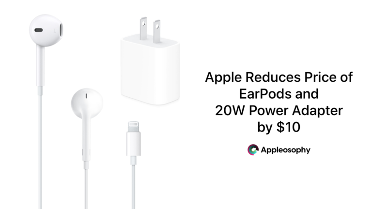 Apple Reduces Price of EarPods and 20W Power Adapter by $10