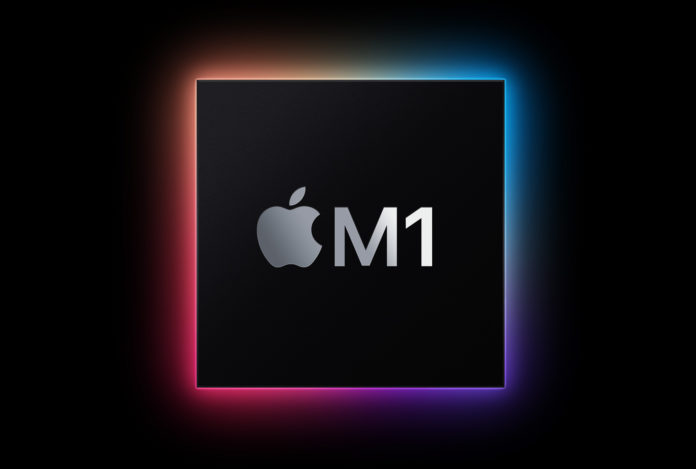 A graphic of the Apple M1 chip