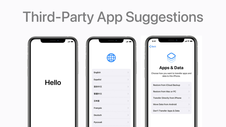 iPhone and iPad Setup Process on iOS 14.3 will suggest users to install third-party apps