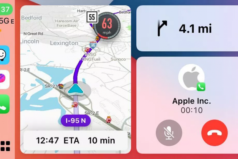 Waze is now supported on Apple CarPlay's Dashboard