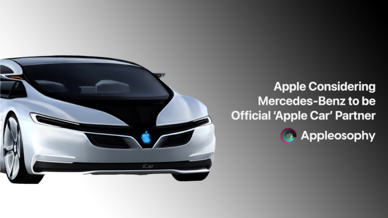 Mercedes Benz Could Potentially Be in Talks With Apple to Develop Smart Car Project