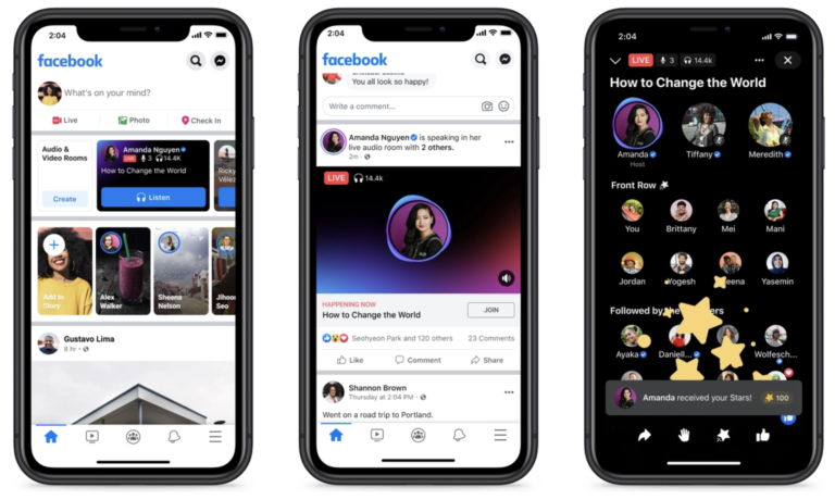 Newly-Launched Facebook Audio Platforms Available Today